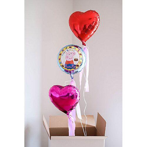 LET ` S PARTY BOX ! Peppa Wutz Ballongrüße - Befüllte Heliumballons bunt