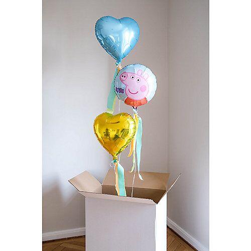 LET ` S PARTY BOX ! Peppa Wutz Ballongrüße - Befüllte Heliumballons hellblau