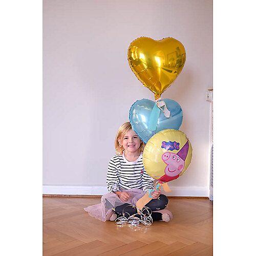 LET ` S PARTY BOX ! Peppa Wutz Ballongrüße - Befüllte Heliumballons gelb