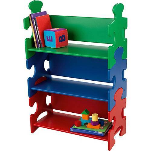 KidKraft Bücherregal Puzzle, Primärfarben mehrfarbig