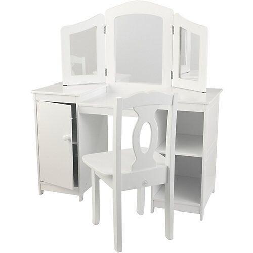 KidKraft Frisiertisch & Stuhl Deluxe weiß