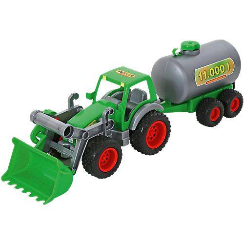 WADER FarmerTechnic Traktor + Frontschaufel+Fassanhänger