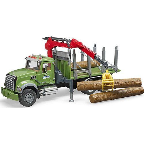 BRUDER 02824 Mack LKW Holztransporter mit Greifer 60cm