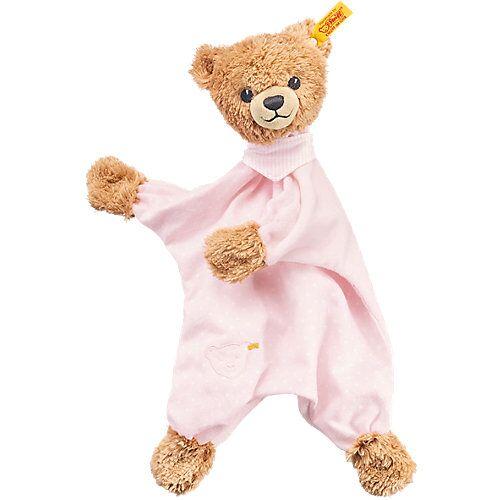 Steiff Schlaf Gut Bär Schmusetuch 30 cm rosa