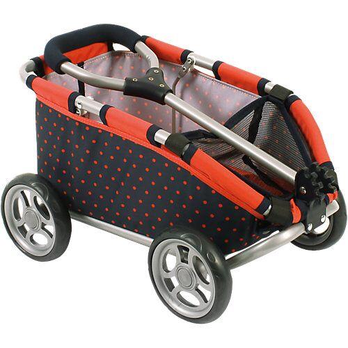 Chic 4 Baby Puppen-Bollerwagen Skipper, Dots Koralle