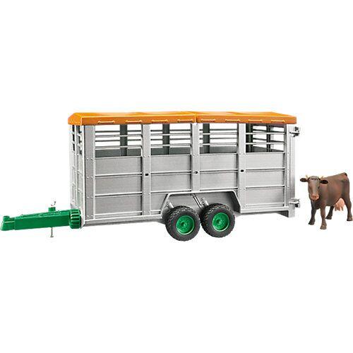 Bruder Viehtransportanhänger mit 1 Kuh