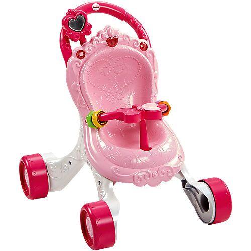 Mattel Fisher-Price Musikspaß Puppenwagen (rosa), Lauflernwagen Mädchen, Lauflernhilfe, Laufwagen
