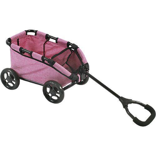 Chic 4 Baby Puppen-Bollerwagen Skipper, Jeans pink