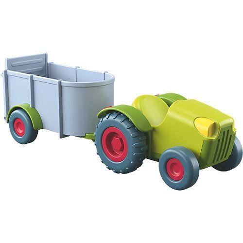 HABA 303131 Little Friends Bauernhof Traktor mit Anhänger