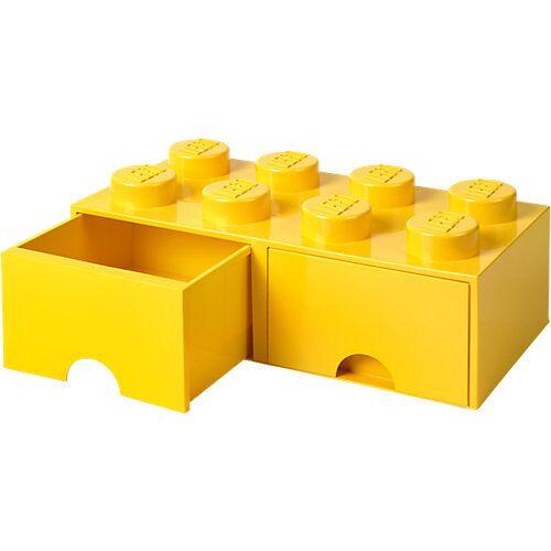 LEGO Aufbewahrungsbox 8er gelb mit Schublade, 50 x 25 x 18 cm