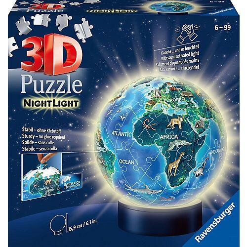 Ravensburger 2in1 Nachtlicht & puzzleball® Ø13 cm, 72 Teile , Erde