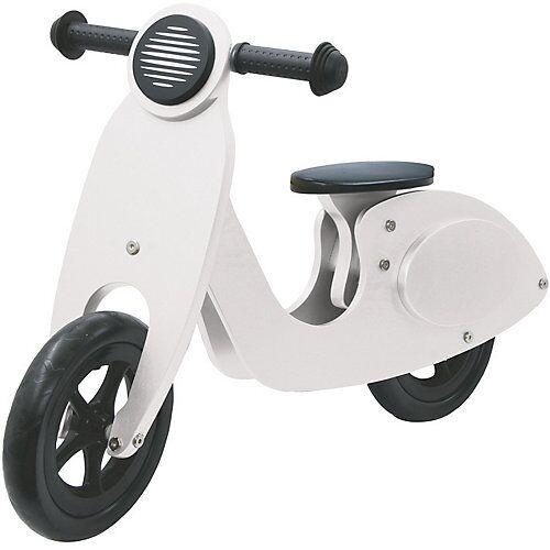 Jamara Laufrad Holz Roller weiß