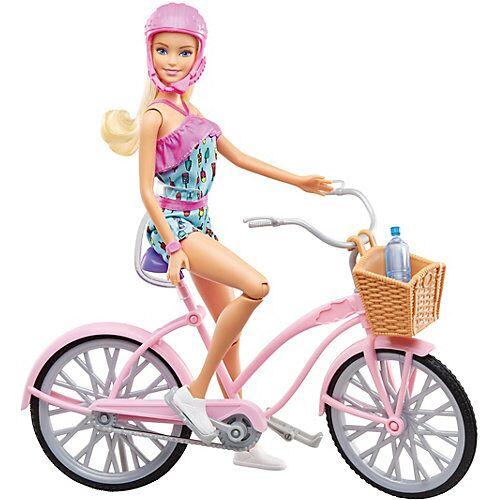 Mattel Barbie Puppe mit Fahrrad