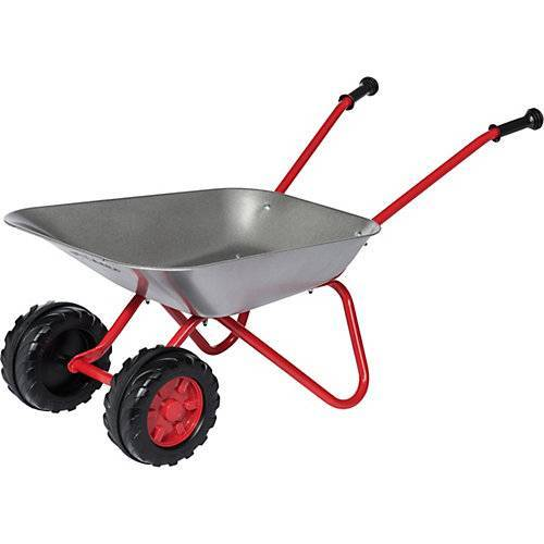 Rolly Toys rollySchubkarre mit Doppelrad rot/silber