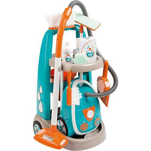 Smoby Reinigungstrolley mit Staubsauger blau/orange