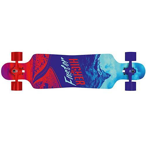 Streetsurfing Longboard Freeride Curve 39 Higher-Faster, rot-blau blau/rot