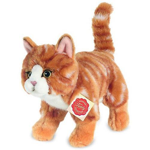 Teddy-Hermann Katze stehend rot getigert 20 cm