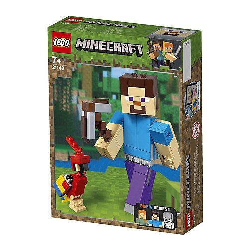 LEGO 21148 Minecraft: Minecraft™-BigFig Steve mit Papagei