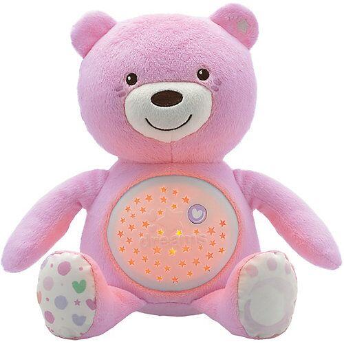 CHICCO Nachtlicht mit Musik Baby Bär, rosa