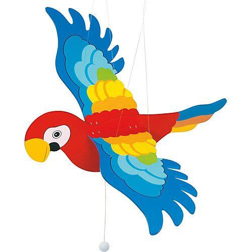 goki Schwingtier Papagei bunt
