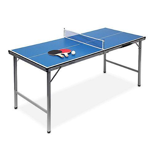 relaxdays Klappbare Tischtennisplatte blau