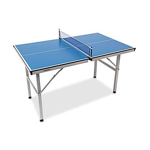 relaxdays Midi Tischtennistisch blau