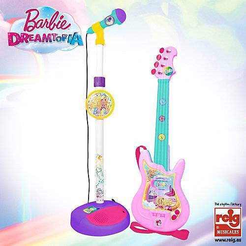 Barbie Gitarre mit Mikrofon weiß/beige