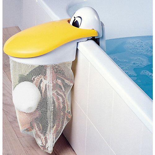 KidsKit Spielzeug-Badewannennetz Pelikan weiß