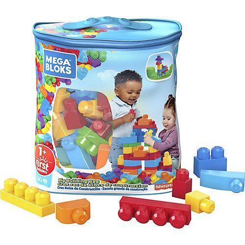 Mattel Mega Bloks Bausteine-Beutel bunt (60 Teile), Steck-Bausteine Kinder, Bauklötze