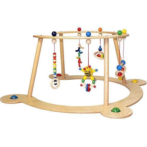 HESS Babyspiel und Lauflerngerät aus Holz, ca. 70x70x36 cm natur