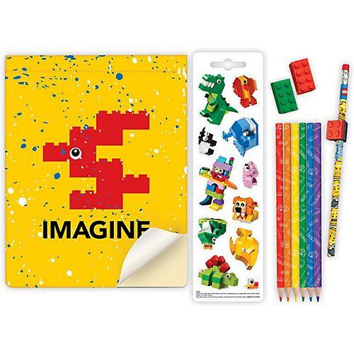 LEGO Notizheft LEGO, inkl. Schreibset & Figur