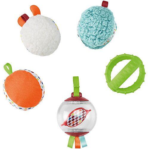 Mattel Fisher-Price Fünf Sinne Bälle, Baby-Spielzeug, Baby Ball, Rassel, Sensorik-Spielzeug