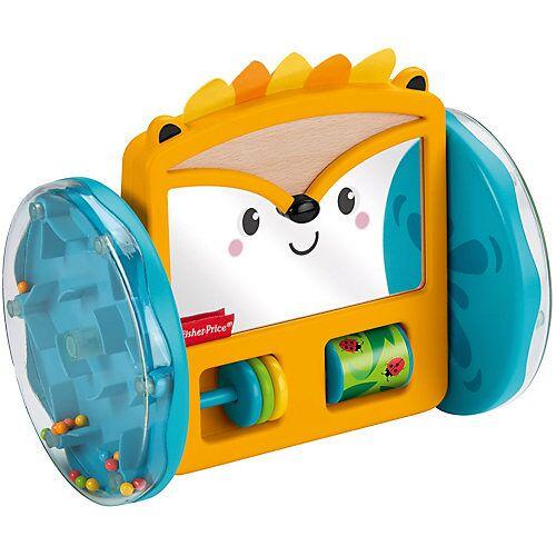 Mattel Fisher-Price Rollender Igel-Spiegel, Baby-Spielzeug, Krabbel-Spielzeug