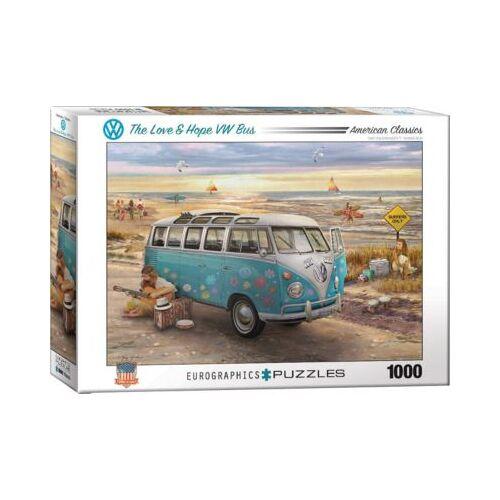 Eurographics Puzzle 1000 Teile-Love & Hope VW Bus