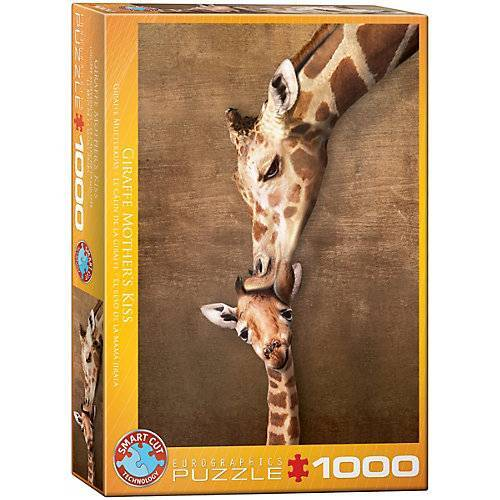 Eurographics Puzzle 1000 Teile-Giraffenmutterkuss