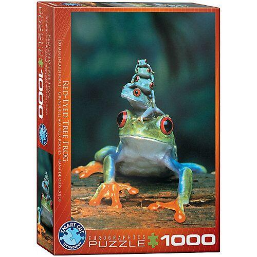 Eurographics Puzzle 1000 Teile-Rotaugenlaubfrosch