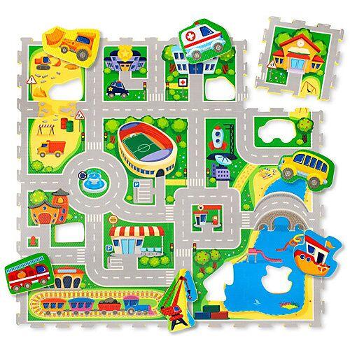 Hakuna Matte® Puzzlematte Babys - City Puzzlematten mehrfarbig  Kinder