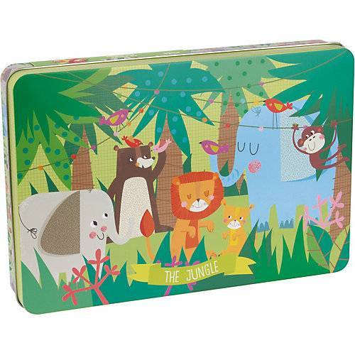 APLI Kids Dschungel Puzzle in Metalldose