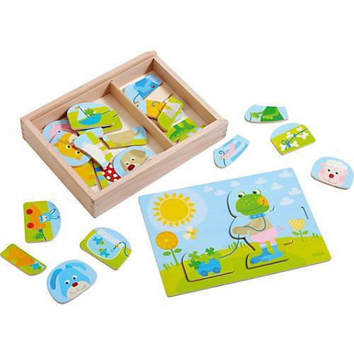 HABA 303186 Holzpuzzle Lustiger Tiermix