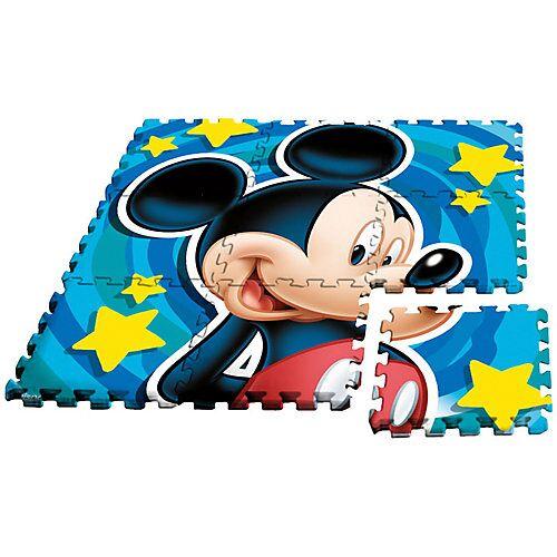 Disney Mickey Mouse & friends Mickey Maus Puzzlespielmatte, Moosgummi, 9-tlg.