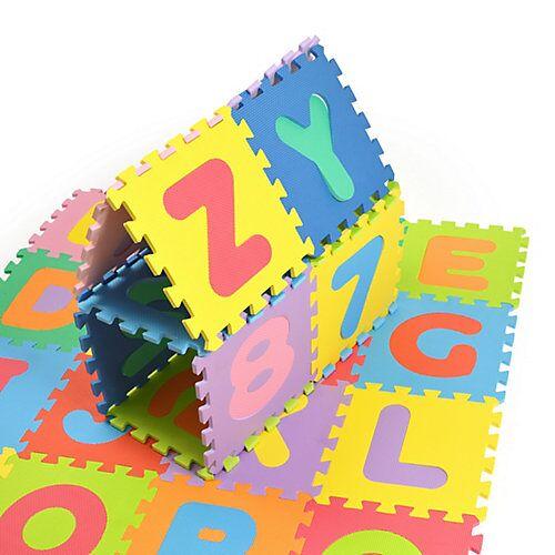 Pink Papaya Puzzlematte mit Zahlen und Buchstaben Kids Zone blau/rot