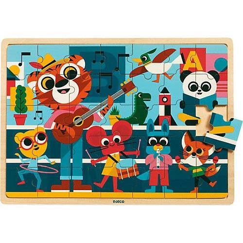 DJECO Holz-Puzzle Puzzlo Music, 35 Teile