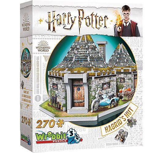 Wrebbit 3D-Puzzle Hagrids Hütte - Harry Potter, 270 Teile