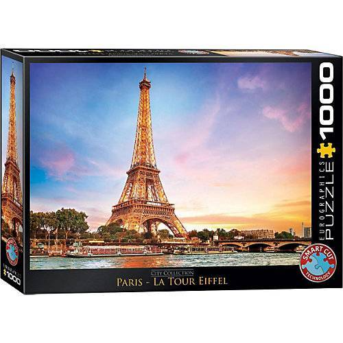 Eurographics Puzzle 1000 Teile-Paris Eiffelturm