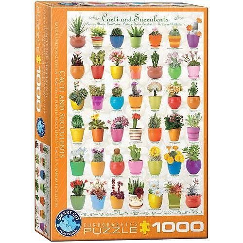 Eurographics Puzzle 1000 Teile-Kakteen und Sukkulenten