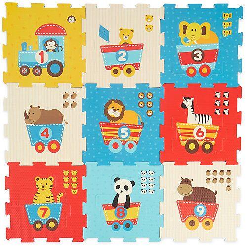 bieco Puzzlematte Baby 19 tlg Spielmatte Baby XXL Puzzle Kinder Krabbeldecke Turnmatte Bodenpuzzle