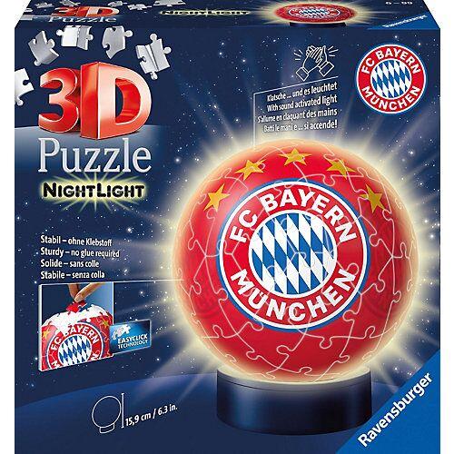 Ravensburger 2in1 Nachtlicht & puzzleball® Ø13 cm, 72 Teile , FC Bayern München
