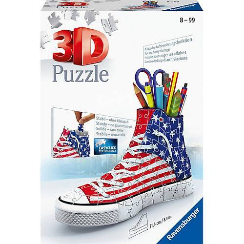 Ravensburger 3D-Puzzle Sneaker Utensilo, H12 cm, 108 Teile, American Style