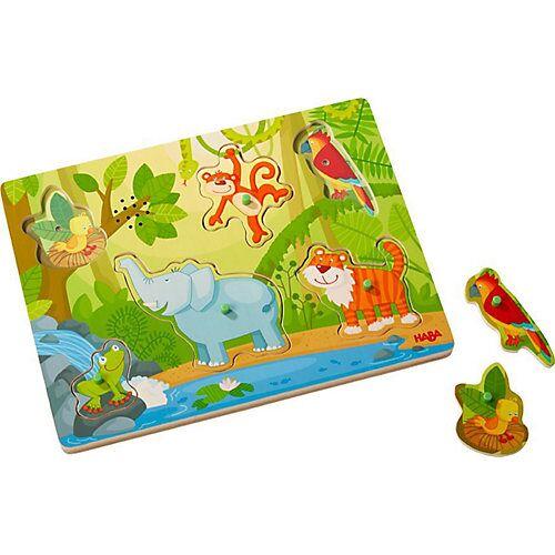 """Haba """"HABA 303181 Greifpuzzle mit Geräuschen """"""""Im Dschungel"""""""""""""""