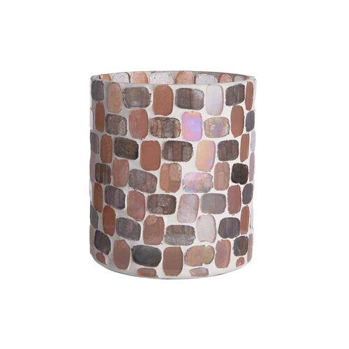 BUTLERS MARLA Teelichthalter Mosaik Höhe 10cm